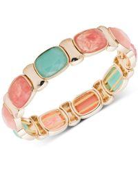 Nine West - Multi-stone Stretch Bracelet - Lyst