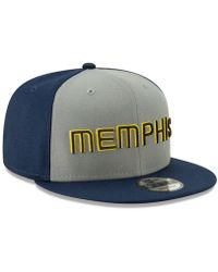 competitive price 0146c aaa6f Nike Mitchell Ness Memphis Grizzlies Nba Current Logo Fitted Cap in Blue  for Men - Lyst