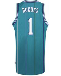 adidas - Men s Muggsy Bogues Charlotte Hornets Retired Player Swingman  Jersey - Lyst be1a77edf
