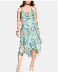 1868d30a4f8 Airy Attendee Linen Wrap Dress.  99. ModCloth · City Chic - Trendy Plus  Size Airy Palermo Handkerchief-hem Dress - Lyst