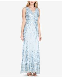 Tahari - Embroidered Gown - Lyst