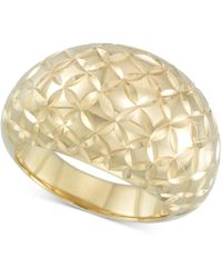 Signature Gold - Tm Textured Dome Ring In 14k Gold Over Resin - Lyst