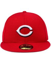 detailed look 105bb 7d3ac KTZ Cincinnati Reds Sandlot Patch 59fifty Fitted Cap in Red for Men - Lyst