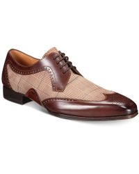 Mezlan - Two-tone Printed Oxfords, Created For Macy's - Lyst