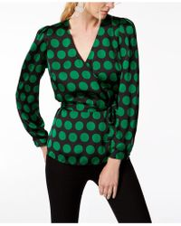 INC International Concepts - I.n.c. Petite Printed Surplice Top, Created For Macy's - Lyst