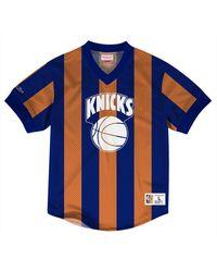 c6765e47 Mitchell & Ness - New York Knicks Kicking It Wordmark Mesh T-shirt - Lyst