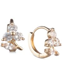 Lonna & Lilly - Gold-tone Crystal Hoop Earrings - Lyst