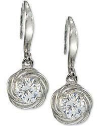 Giani Bernini - Cubic Zirconia Love Knot Drop Earrings In Sterling Silver - Lyst