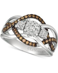 Le Vian - ® Chocolatier Diamond Ring (3/8 Ct. T.w.) in 14k Rose Gold (also Available In Two-tone White & Yellow Gold Or White Gold) - Lyst