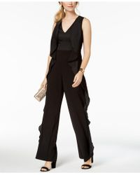 Adrianna Papell - Cascading Ruffle Jumpsuit - Lyst