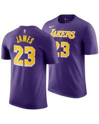dc02b67b Nike - Lebron James Los Angeles Lakers Icon Player T-shirt - Lyst