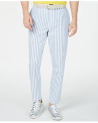 INC International Concepts Bold Seersucker Slim-fit Trousers, Created For Macy's