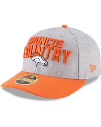 reputable site 89eb9 8c02c KTZ - Denver Broncos Draft Low Profile 59fifty Fitted Cap - Lyst