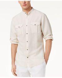 INC International Concepts - Band Collar Fuji Shirt, Created For Macy's - Lyst