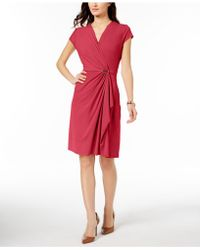 Charter Club - Draped Faux-wrap Dress, Created For Macy's - Lyst