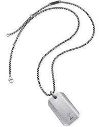 Steve Madden - Dog Tag Necklace - Lyst
