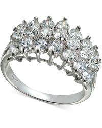 Giani Bernini   Cubic Zirconia Cluster Ring In Sterling Silver   Lyst