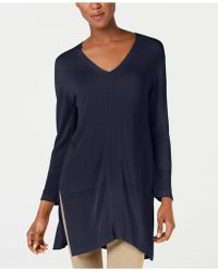 Weekend by Maxmara - Canale Side-slit Tunic Sweater - Lyst