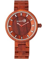 Earth Wood - Branch Wood Bracelet Watch Red 45mm - Lyst