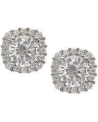 Giani Bernini - Cubic Zirconia Halo Stud Earrings In Sterling Silver - Lyst