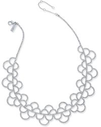INC International Concepts - Silver-tone Crystal Scallop Statement Necklace - Lyst