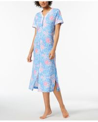 Miss Elaine - Rose-print Knit Robe - Lyst