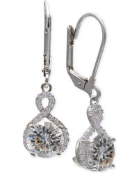 Giani Bernini - Cubic Zirconia Infinity Leverback Earrings In Sterling Silver - Lyst