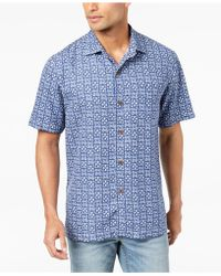 Tommy Bahama - Men's Juno Beach Geo-print Silk Shirt - Lyst