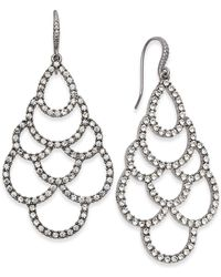 INC International Concepts | Silver-tone Crystal Scalloped Chandelier Earrings | Lyst