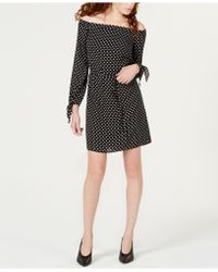 Maison Jules - Off-the-shoulder Dot-print Dress, Created For Macy's - Lyst