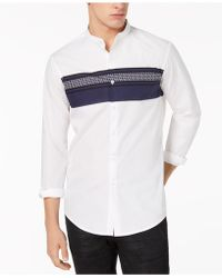 INC International Concepts - Band Collar Shirt, Created For Macy's - Lyst