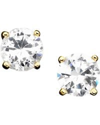 Giani Bernini - 18k Gold Over Sterling Silver Cubic Zirconia Stud Earrings (2 Ct. T.w.) - Lyst