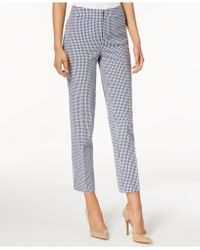 Nine West - Gingham-print Ankle Pants - Lyst