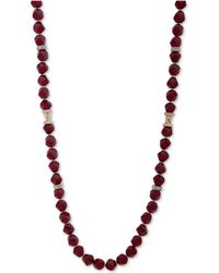 """Anne Klein - Faceted Bead & Crystal 42"""" Statement Necklace, Created For Macy's - Lyst"""