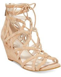 Kenneth Cole - Dylan Lace-up Wedge Sandals - Lyst