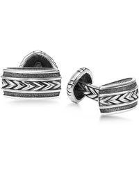 Scott Kay - Men's Engraved Chevron Cuff Links In Sterling Silver - Lyst