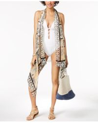 INC International Concepts - I.n.c. Drape-front Printed Cover-up & Vest, Created For Macy's - Lyst