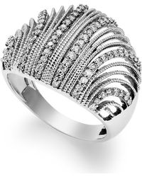 Macy's - Diamond Shell Ring In Sterling Silver (1/2 Ct. T.w.) - Lyst
