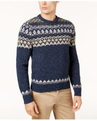 Vineyard vines Lobster Fair Isle Sweater in Blue for Men | Lyst