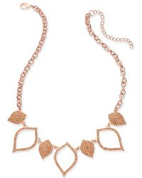 INC International Concepts - Rose Gold-tone Pavé Navette Statement Necklace - Lyst