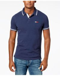 a5eafb4e Tommy Hilfiger Men's Boomer Colorblocked Polo in Blue for Men - Lyst