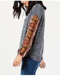 Style & Co. - Contrast-sleeve Sweatshirt, Created For Macy's - Lyst