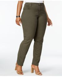 Lee Platinum - Plus Size Gwen Straight Fit Colored Denim Jeans - Lyst
