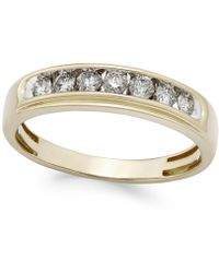 Macy's - Men's Diamond Band (1/2 Ct. T.w.) In 10k Gold - Lyst