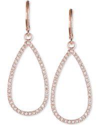 Anne Klein - Rose Gold 'social' Teardrop Earrings - Lyst
