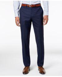 DKNY - Slim-fit Blue Windowpane Suit Pants - Lyst