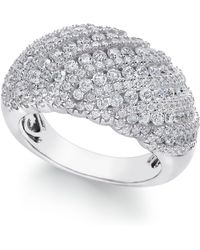 e579d8d849e1 Arabella - Swarovski Zirconia Dome Cluster Statement Ring In Sterling Silver  - Lyst
