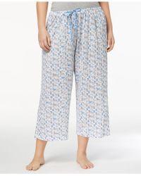 Hue - Plus Size Icy Margarita Knit Capri Pyjama Trousers - Lyst
