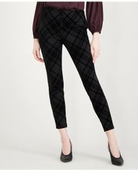 Maison Jules - Flocked Plaid Pants, Created For Macy's - Lyst