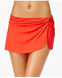 Anne Cole | Solid Sarong Swim Skirt | Lyst